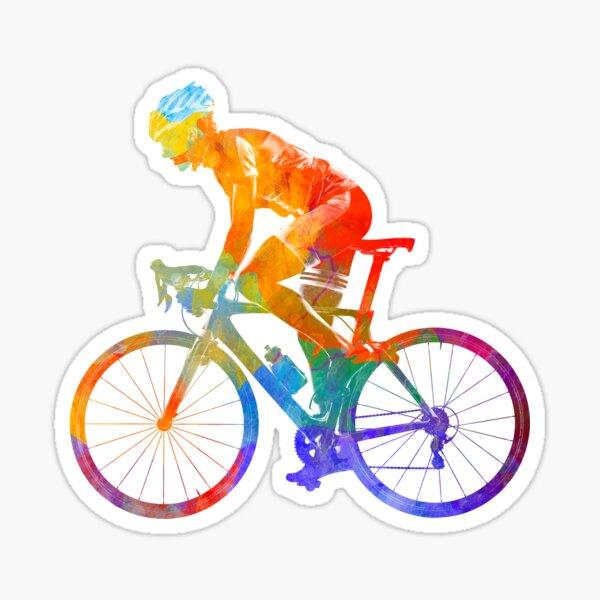 Femme triathlon cyclisme 01 Sticker