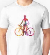 Woman triathlon cycling 02 Unisex T-Shirt