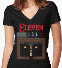 The Legend Of Eleven Women's Fitted V-Neck T-Shirt