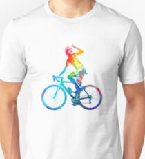 Woman triathlon cycling 03 Unisex T-Shirt