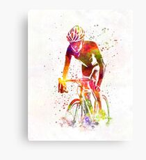 Woman triathlon cycling 04 Canvas Print
