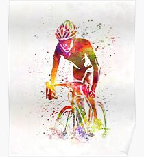 Woman triathlon cycling 04 Poster