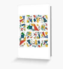Colourful Constructivism Greeting Card