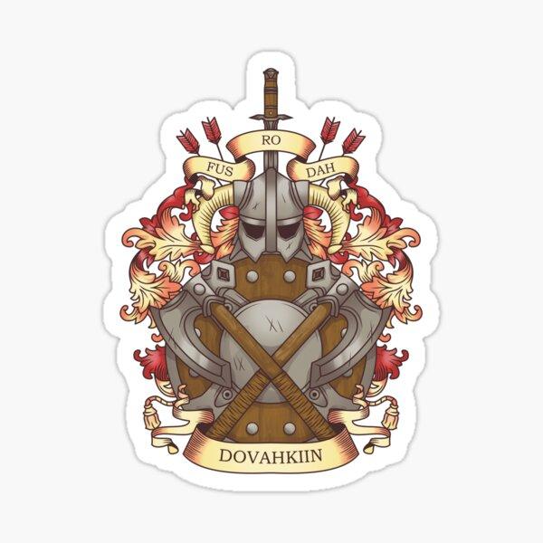 Dovah-crest Sticker