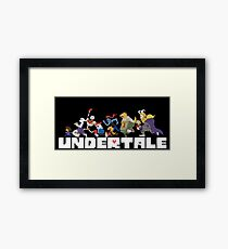 Undertale Characters Framed Print