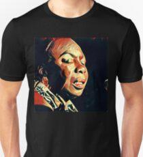Nina Simone wood 1 Unisex T-Shirt