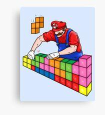 Super Mario Mason Canvas Print
