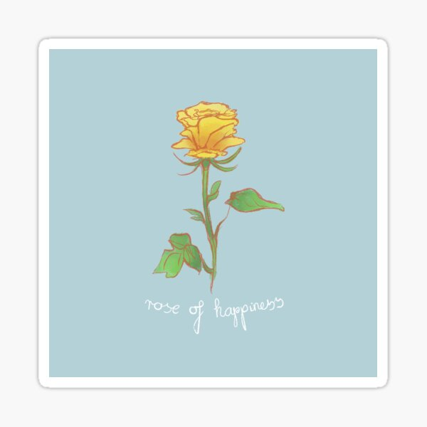 Rose of Happiness Sticker