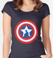 Cap's Shield Women's Fitted Scoop T-Shirt