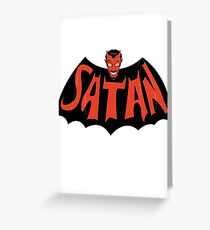 Satan Greeting Card
