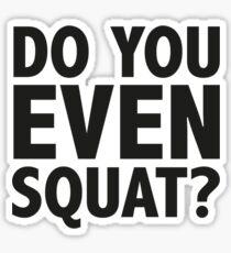 Do You Even Squat? Sticker