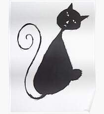 The Unhappy Cat Poster
