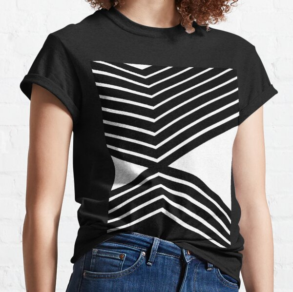 Bold Black and White Lines Geometry  Classic T-Shirt