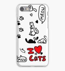 I Heart Cats iPhone Case/Skin