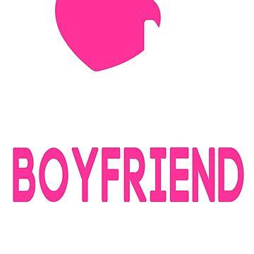 I Love My Tattooed Boyfriend T-Shirt by johnnydany