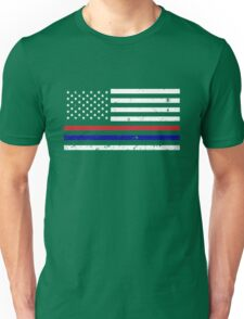 Thin Blue Red Line Flag Unisex T-Shirt