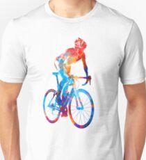 Woman triathlon cycling 06 Unisex T-Shirt