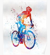 Woman triathlon cycling 06 Poster