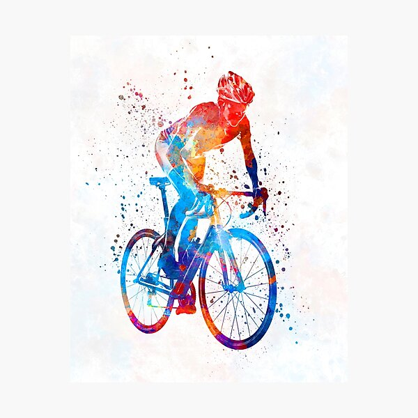 Woman triathlon cycling 06 Photographic Print