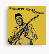 Freddie King in Pencil Canvas Print