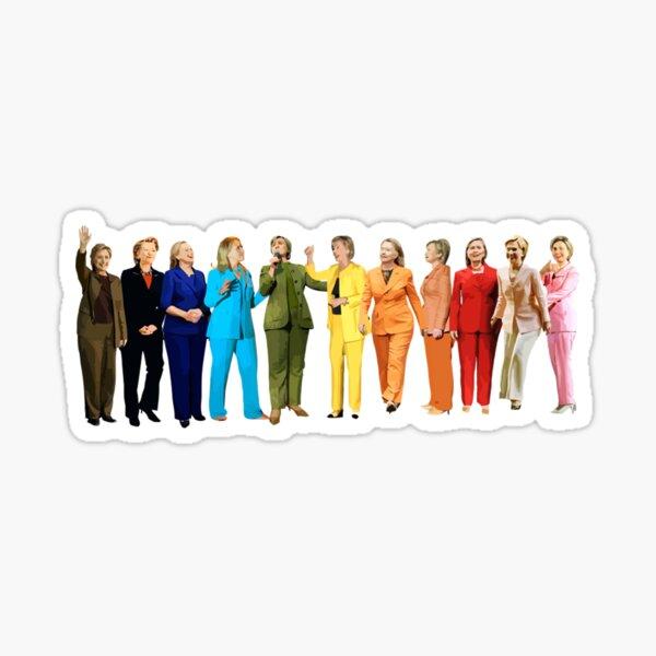 Hillary Rainbow Sticker