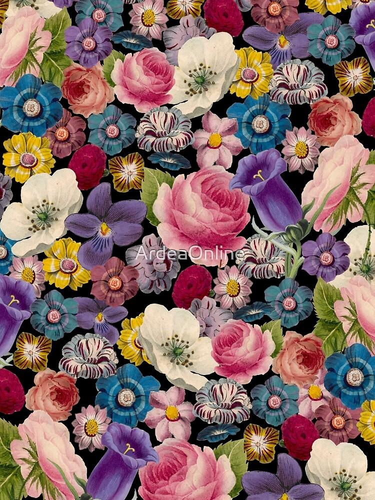Retro Blumencollage von ArdeaOnline