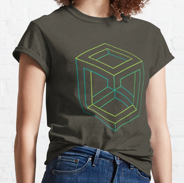 Impossible Shapes: Cube Outline Classic T-Shirt