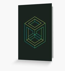 Impossible Shapes: Cube Outline Greeting Card