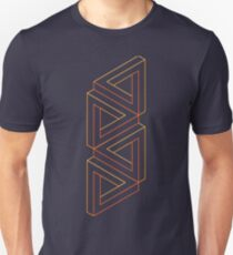Impossible Shapes: Triangles Outline T-Shirt