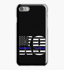 Police K9 Thin Blue Line iPhone Case/Skin