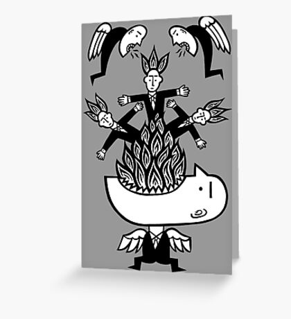 Business as usual Greeting Card