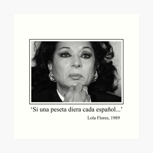 La peseta de Lola Flores Lámina artística