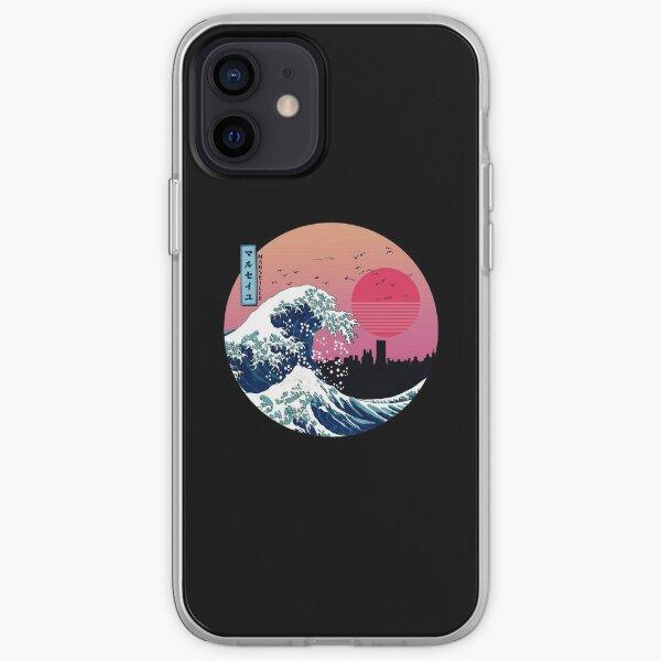 Marseille Kanagawa Wave Retro iPhone Soft Case
