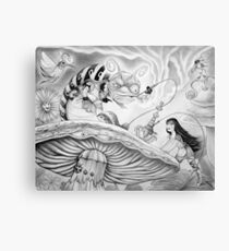 Who are YOU? (Alice and the Caterpillar) Canvas Print