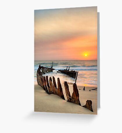 Shipwreck - Dickie Beach - Queensland - Australia Greeting Card