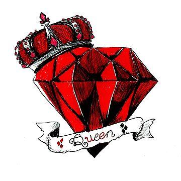Queen of Diamonds by Littlehorrors