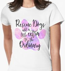 Extraordinary Rescue Dog Watercolor Womens Fitted T-Shirt