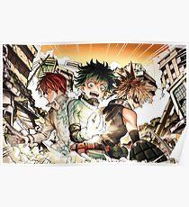 Boku no Hero Academia - Todoroki, Izuku, Bakugou Poster