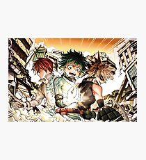 Boku no Hero Academia - Todoroki, Izuku, Bakugou Photographic Print