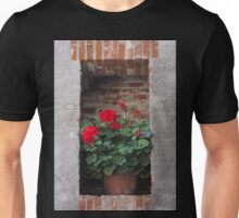 Niche with geranium Unisex T-Shirt
