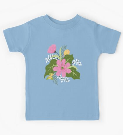 Blooming colorful composition Kids Clothes