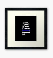 Alabama Thin Blue Line Police Framed Print