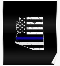 Arizona Thin Blue Line Police Poster