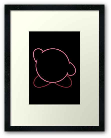 Minimalist Kirby by Colossal