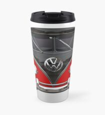 VW Kombi Bus red Travel Mug