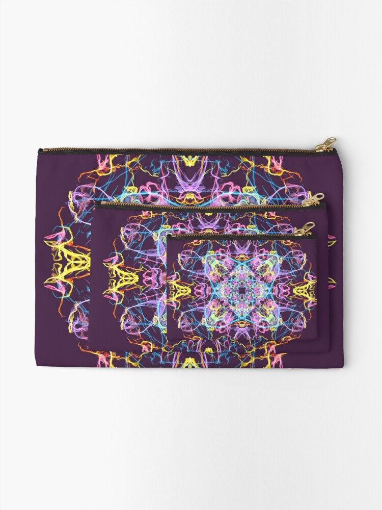 Alternate view of Floral Lights Zipper Pouch