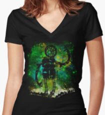 mad robot Women's Fitted V-Neck T-Shirt