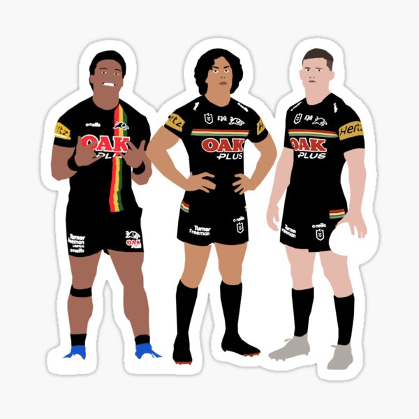 Brian To'o, Jarome Luai & Nathan Cleary Penrith Panthers NRL Sticker
