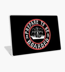 Prepare to be Boarded! Funny Pirate Ship Laptop Skin