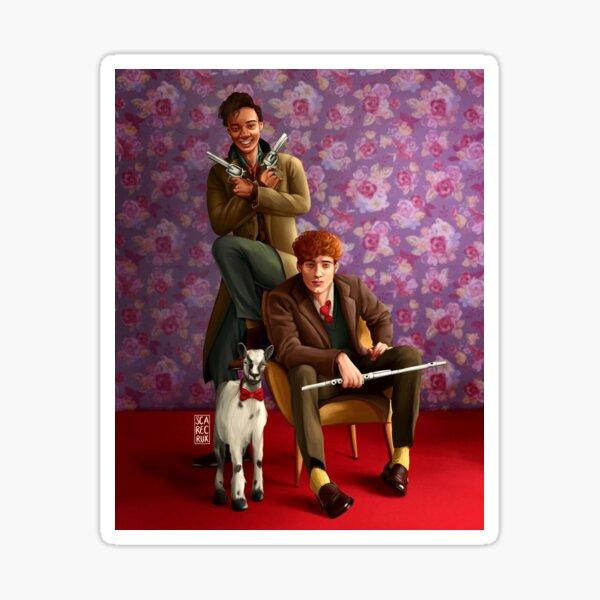 Fahey-Van Eck Family Portrait with Milo the Goat Sticker